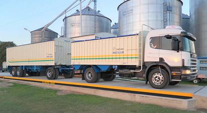 Balanza para pesar camiones, aprobada por INTI